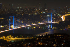 Bosphorus Bridge from Camlica Hill Royalty Free Stock Images