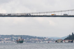 Bosphorus Bridge. Close up of Bosphorus Bridge,Istanbul Turkey Stock Photos