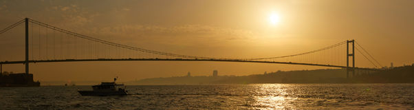 The Bosphorus Bridge connecting Europe and Asia. The Bosphorus Bridge connecting Europe and Asia Royalty Free Stock Image