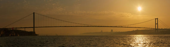 The Bosphorus Bridge connecting Europe and Asia. The Bosphorus Bridge connecting Europe and Asia Royalty Free Stock Images