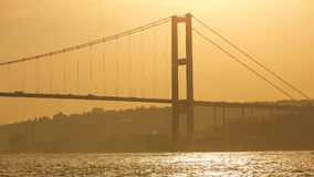 The Bosphorus Bridge connecting Europe and Asia. The Bosphorus Bridge connecting Europe and Asia Stock Photography