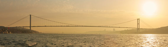 The Bosphorus Bridge connecting Europe and Asia. The Bosphorus Bridge connecting Europe and Asia Royalty Free Stock Photo