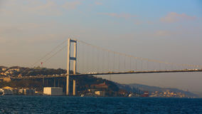 The Bosphorus Bridge connecting Europe and Asia. The Bosphorus Bridge connecting Europe and Asia Royalty Free Stock Photos
