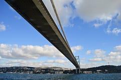 Bosphorus bridge. The first bridge built across on Bosphorus stock photos