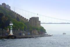 Bosphorus bridge fortress Royalty Free Stock Image