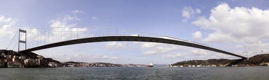 BOSPHORUS BRIDGE ISTANBUL. The Bosphorus Bridge connecting Europe and Asia. istanbul, turkey royalty free stock photography