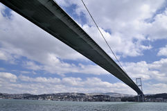 Bosphorus bridge in istanbul Royalty Free Stock Photos