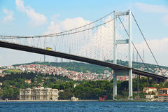Bosphorus bridge in Istanbul Royalty Free Stock Photography