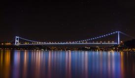 Bosphorus Bridge - Istanbul. Bosphorus Bridge Night - Istanbul Turkey Royalty Free Stock Images