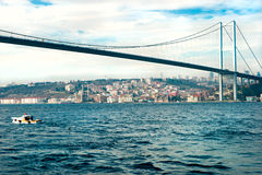 Bosphorus bridge, Istanbul, Turkey. Royalty Free Stock Images
