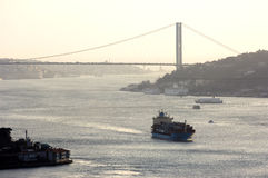 Bosphorus bridge, Istanbul-Turkey Royalty Free Stock Photo