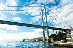 Bosphorus bridge, Istanbul, Turkey. Royalty Free Stock Photos