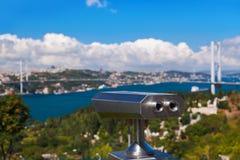Bosphorus bridge in Istanbul Turkey Royalty Free Stock Photos