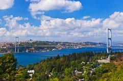 Bosphorus bridge in Istanbul Turkey Stock Image