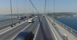 Bosphorus Bridge. ISTANBUL, TURKEY - 7 APRIL 2016: Bosphorus Bridge in Istanbul, the Sultan Mehmed: April 7, 2016 in Istanbul, Turkey stock footage