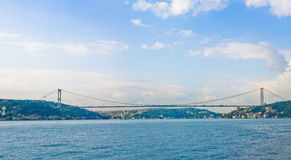 Bosphorus bridge in Istanbul Turkey Royalty Free Stock Image