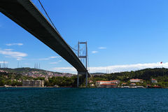 Bosphorus bridge, Istanbul, Turkey Royalty Free Stock Photos
