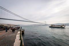 Bosphorus bridge in Istanbul, Turkey Stock Images