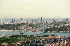 Bosphorus bridge in Istanbul, Turkey. Bosphorus bridge in Istanbul, Turkey, panorama stock images