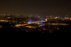 The Bosphorus Bridge in Istanbul Turkey. Ucar Kafe Stock Photography