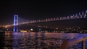Bosphorus bridge night Stock Image