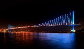 Bosphorus bridge at night Stock Photo