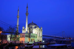 Bosphorus Bridge from Ortakoy Stock Image