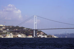 Bosphorus Bridge and Ortakoy. Mosque in Istanbul, Turkey Stock Image