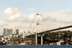 Bosphorus Bridge And & Ortakoy, Istanbul, Turkey Royalty Free Stock Photo