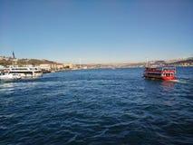 Bosphorus. Bosphorus Bridge photo taken from a ferry in Istanbul stock image