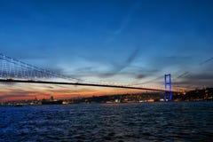 Bosphorus Bridge at sunset, Istanbul, Turkey Stock Images