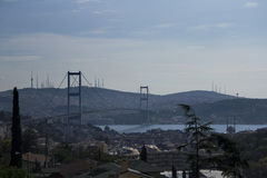 Bosphorus bro Royaltyfria Bilder