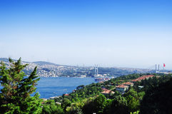 Bosphorus bro i Istanbul Arkivfoton