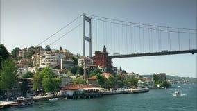 Bosphorus bro i Istanbul, Turkiet arkivfilmer