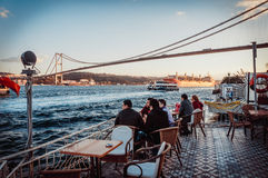 Bosphorus cafe Stock Image