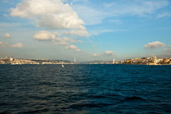 Bosphorus with clouds. Bosphorus bridge and clouds at the istanbul turkey Royalty Free Stock Photos