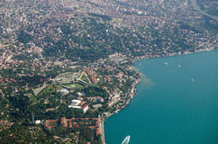 Bosphorus coastline of Istanbul - Asian side Royalty Free Stock Photography