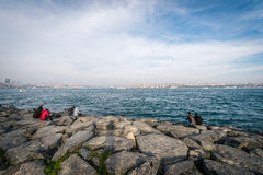 Bosphorus a Costantinopoli, Turchia Fotografia Stock
