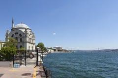 Bosphorus and Dolmabahçe Mosque. Istanbul. Turkey. Stock Photos