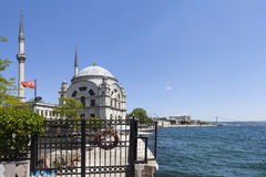 Bosphorus and Dolmabahçe Mosque. Istanbul. Turkey. Stock Images