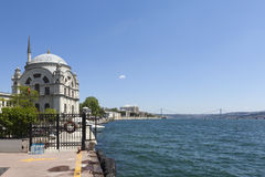 Bosphorus and Dolmabahçe Mosque. Istanbul. Turkey. Stock Photos