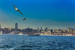 Bosphorus Dolmabahce Palace Istanbul Stock Photography
