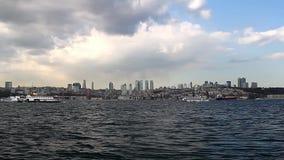 Bosphorus/Estambul/Turquía almacen de video