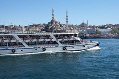 Bosphorus ferry carries tourists and commuters Royalty Free Stock Photos