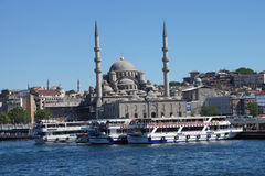 Bosphorus ferry carries tourists and commuters Stock Photos