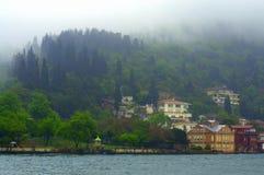Bosphorus foggy forest Royalty Free Stock Image