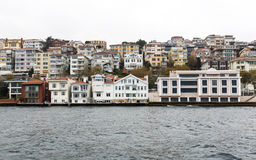 Bosphorus houses buildings Stock Photography