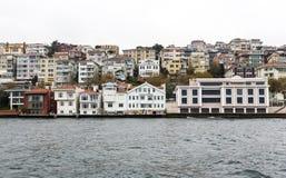 Bosphorus houses buildings Stock Photography