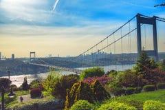 Bosphorus i Fatih sułtanu Mehmet most Zdjęcie Stock