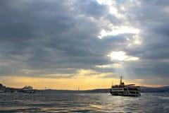 Bosphorus i Istanbul, Turkiet arkivfoton